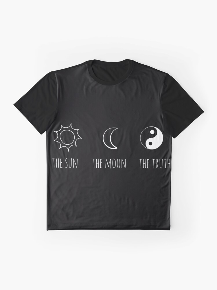 Alternate view of The Sun, The Moon, The Truth Graphic T-Shirt