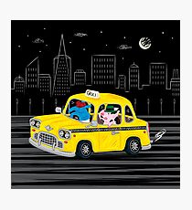 Taxi Ride Photographic Print