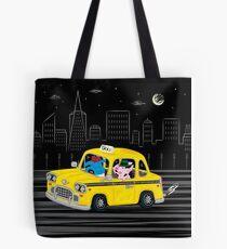 Taxi Ride Tote Bag