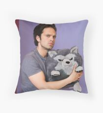 Sebastian Stan and Friend <3 Throw Pillow