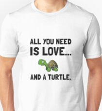 Love And A Turtle Unisex T-Shirt