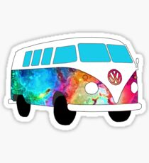 VW Rainbow Hippie Bus! Sticker