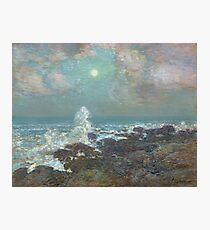 Vintage famous art - Childe Hassam - Seascape-Isle Of Shoals Photographic Print