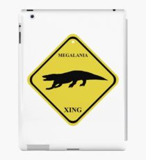Megalania Crossing Sign iPad Case/Skin