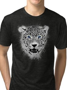 White Tiger - Paint Splatters Dubs Tri-blend T-Shirt