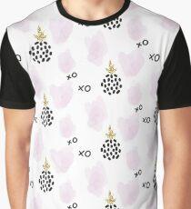 Glitter scandinavian XOXO pineapple ornament Graphic T-Shirt
