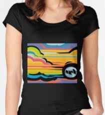 Fast Car - Abstract Graphic Women's Fitted Scoop T-Shirt