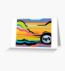 Fast Car - Abstract Graphic Greeting Card
