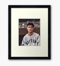 Ted Williams - Colorized Portrait Framed Print