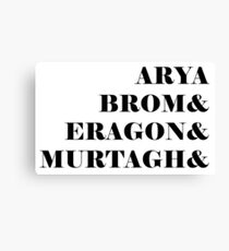 Eragon names Canvas Print