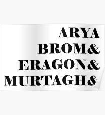Eragon names Poster