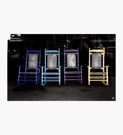 Four Chairs Photographic Print