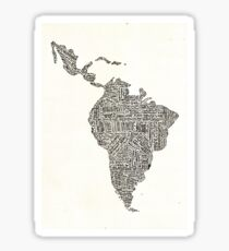 lettering map of Latin America 2015 Sticker
