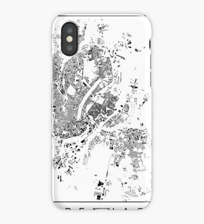 Copenhagen Map Schwarzplan Only Buildings iPhone Case