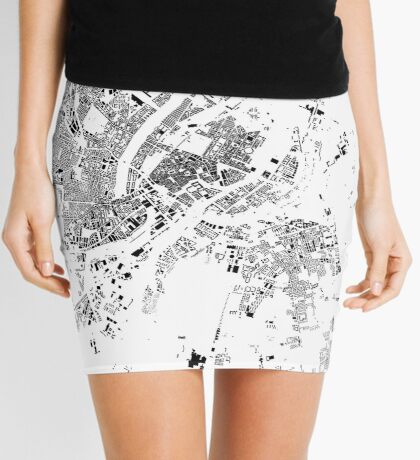 Copenhagen Map Schwarzplan Only Buildings Mini Skirt
