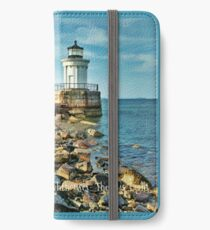 Maine Lighthouses- the Bug Light iPhone Wallet/Case/Skin