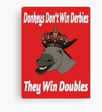 Donkeys Win Doubles Canvas Print