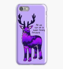 """""""All We Can Do is Move Forward"""" Night Sky Stag iPhone Case/Skin"""