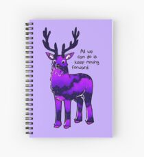 """Cuaderno de espiral """"Todo lo que podemos hacer es avanzar"""" Ciervo de cielo nocturno"""