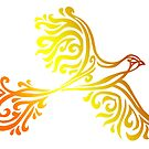 Squiggle Phoenix Bird by whimsystation