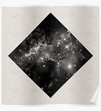 Space Diamond - Abstract, Geometric Space Scene Poster