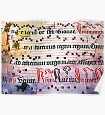 Choral Book Middle Ages - Music Vintage Poster