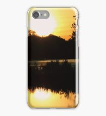 sunset over the lake iPhone Case/Skin