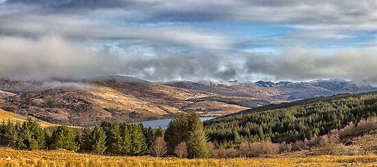 Misty Morvern Mountains Morning by derekbeattie