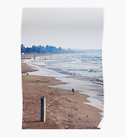 Evening at Sauble Beach, Lake Huron Poster