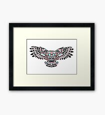 Mystic Owl in Native American Style art Framed Print