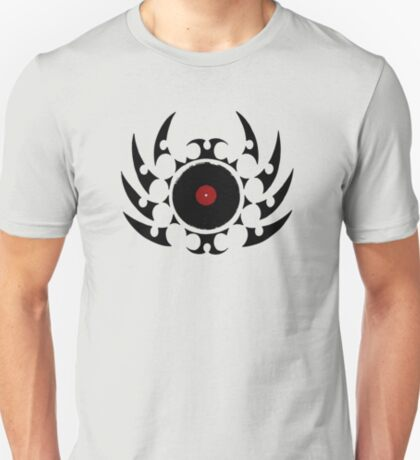 Retro Vinyl Records - Vinyl Tribal Spikes - Music DJ T-Shirt