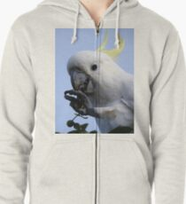 Sulphur Crested Cockatoo Zipped Hoodie