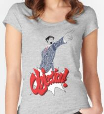 Phoenix Wright Bits! Women's Fitted Scoop T-Shirt