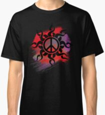 Cool Peace Sign with Paint Classic T-Shirt