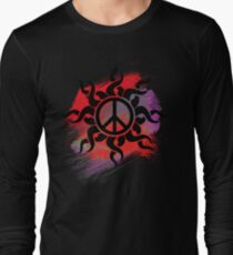 Cool Peace Sign with Paint Long Sleeve T-Shirt