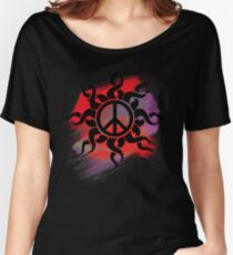 Cool Peace Sign with Paint Women's Relaxed Fit T-Shirt