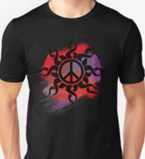 Cool Peace Sign with Paint Unisex T-Shirt