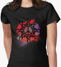 Cool Peace Sign with Paint Women's Fitted T-Shirt