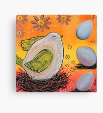 Nesting Bird Canvas Print