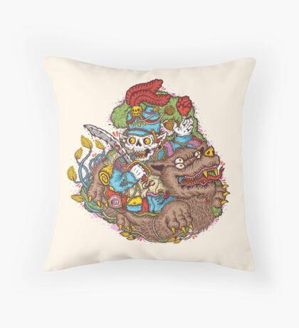 Cursed Hussar Throw Pillow