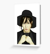 SNSD Tiffany Fanart Greeting Card