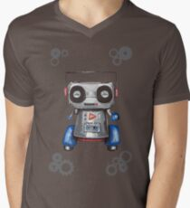 Robot Boomer Mens V-Neck T-Shirt