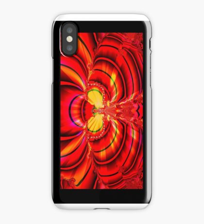 Red Fractal Wings  iPhone Case/Skin