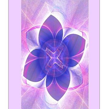 Purple Lotus Fractal  by judygal