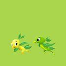 Lemon Bird and Lime Bird by JordanMDalton