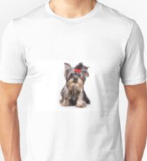 Funny shaggy dog puppy Yorkshire Terrier T-Shirt