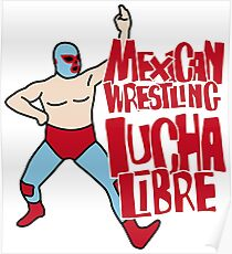 mexican wrestling lucha libre color5 Poster