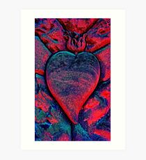 Flaming Heart Art Print