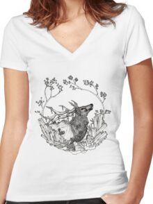 Elk of The Woods Women's Fitted V-Neck T-Shirt