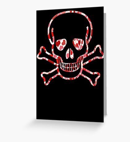 Skull with Hearts - Cool Skull Design Greeting Card